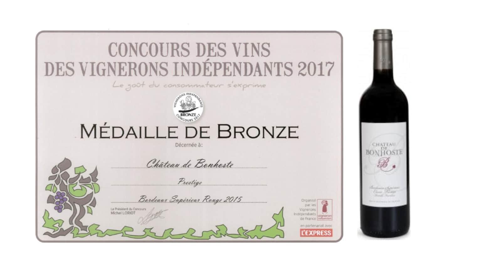 Concours des vins des vignerons ind pendants 2017 vignobles fournier ch teau de bonhoste - Salon des vignerons independants rennes ...
